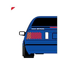 Nissan Exa Coupe - JAP Edition Blue Photographic Print