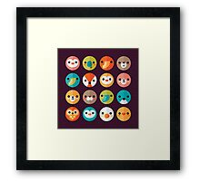 Smiley Faces Framed Print