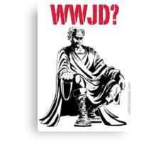 WWJD? Canvas Print