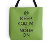 NodeJS Keep Calm and Node On Tote Bag