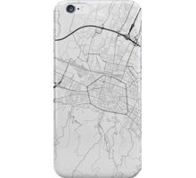 Bologna, Italy Map. (Black on white) iPhone Case/Skin