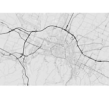 Bologna, Italy Map. (Black on white) Photographic Print