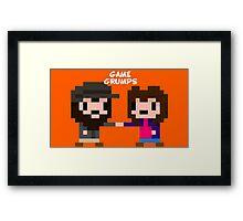 8-bit Game Grumps Fistbump Framed Print
