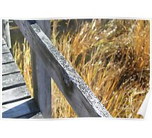 Weathered Pier over the Marsh Grasses Poster