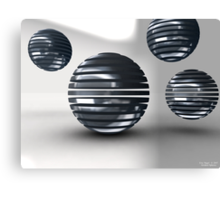 Gridded Spheres Canvas Print