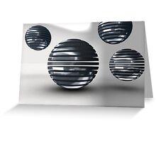 Gridded Spheres Greeting Card