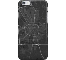 Eindhoven, Netherlands Map. (White on black) iPhone Case/Skin