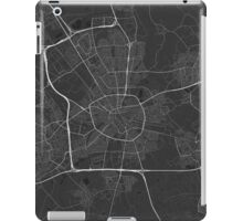Eindhoven, Netherlands Map. (White on black) iPad Case/Skin