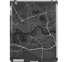 Rotterdam, Netherlands Map. (White on black) iPad Case/Skin