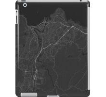 Trondheim, Norway Map. (White on black) iPad Case/Skin