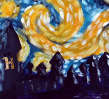 Hogwarts Starry Night Sticker