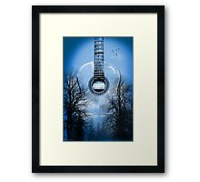 guitar nature  Framed Print