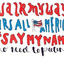mrs all american lyric art by artbyeilidh