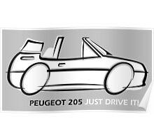 Peugeot 205 cabriolet Poster