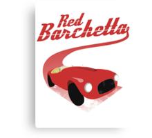 Red Barchetta Canvas Print