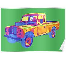 1971 Land Rover Pick up Truck Pop Art Poster
