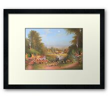 Gandalf's Return Fireworks In The Shire oil on canvas   Framed Print