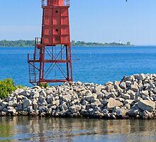Racine North Breakwater Lighthouse by Kenneth Keifer