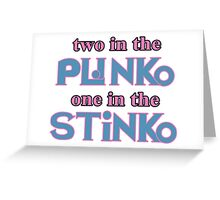 Two in the Plinko One in the Stinko - Price is Right Tosh.0 Greeting Card