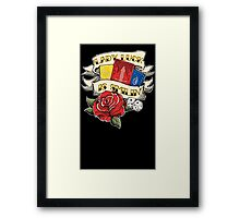 Twisted Fate tattoo style Framed Print