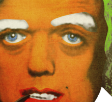 Oompa Loompa Self Portrait With Surreal Pipe Sticker