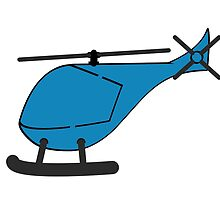 Blue Helicopter by kwg2200