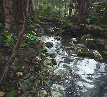 Woodland Stream by Cynthia Decker