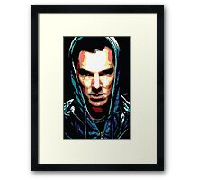 Benedict Cumberbatch: You Think Your World is Safe? Framed Print