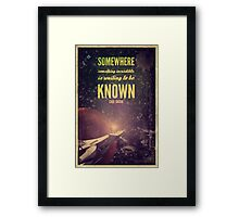 Space Exploration (Carl Sagan Quote) Framed Print