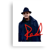 The Blacklist - Red Canvas Print