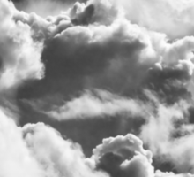 Black And white Sky With Building Storm Clouds Sticker
