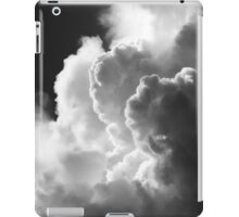 Black And white Sky With Building Puffy Storm Clouds iPad Case/Skin