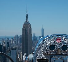 Turn to clear vision - New York skyline by Beverley Goodwin