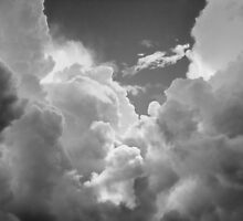 Black And white Sky With Dramatic Storm Clouds by KWJphotoart