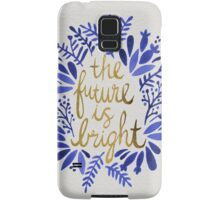 The Future is Bright – Navy & Gold Samsung Galaxy Case/Skin