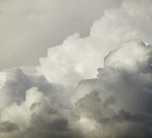Storm Clouds and Thunder Heads Before Rain Storm by KWJphotoart