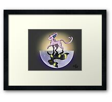 Umbreon & Espeon, Night and Day Framed Print