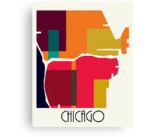 chicago modern map  Canvas Print