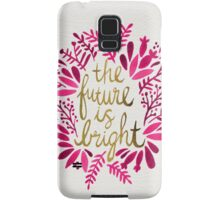 The Future is Bright – Pink & Gold Samsung Galaxy Case/Skin