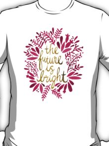 The Future is Bright – Pink & Gold T-Shirt
