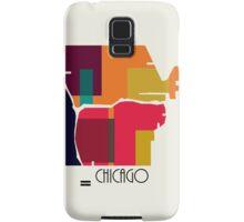 chicago modern map  Samsung Galaxy Case/Skin