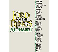 Lord of the Rings Alphabet Photographic Print