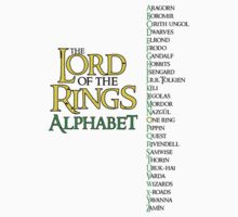 Lord of the Rings Alphabet Kids Clothes