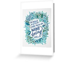 Zelda Fitzgerald – Blue on White Greeting Card