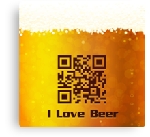 I Love Beer background Canvas Print