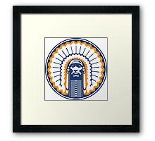 chief illiniwek  Framed Print