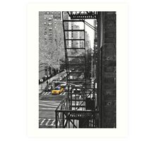 What's Black and White and Yellow all over? Art Print