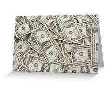 American One Dollar Bills Greeting Card