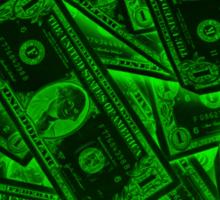 American One Dollar Bills Pop Art Sticker