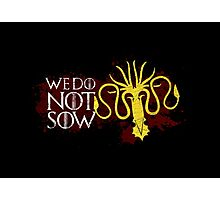 We Do Not Sow - House Greyjoy Photographic Print